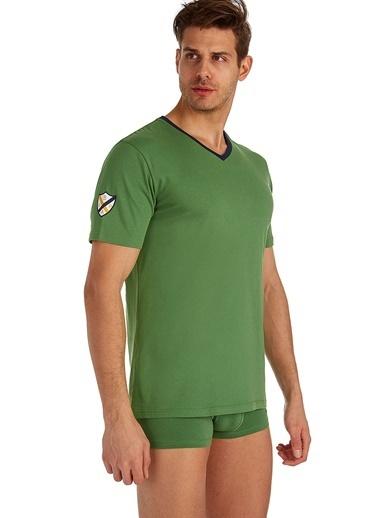 U.S. Polo Assn. V-Yaka T-Shirt Yeşil
